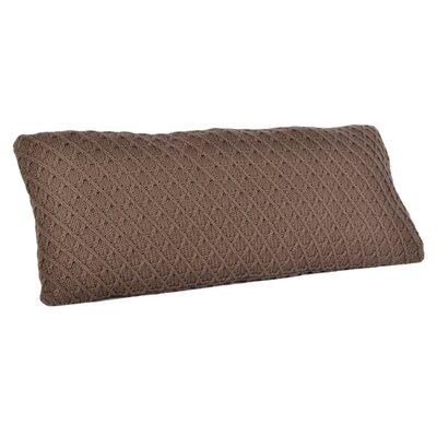 Diamond Sweater Knit Lumbar Pillow Color: Porcini