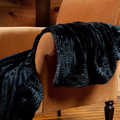 Plushmink Sequin Throw Color: Black