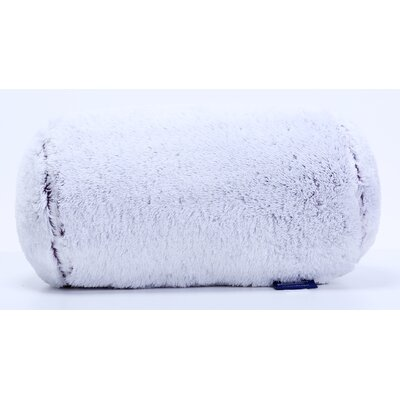 Frosted Tip Fluffy Neckroll Bolster Pillow Color: Eggplant