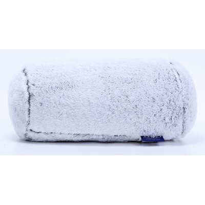 Frosted Tip Fluffy Neckroll Bolster Pillow Color: Pavement