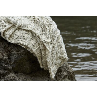 Textural Hand-Knit Throw