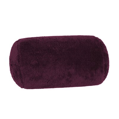 Extra-Fluffy Log Bolster Pillow Color: Eggplant