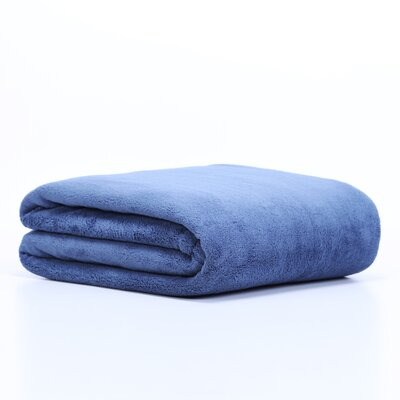 Extra Plush Throw Blanket Color: Cadet Blue