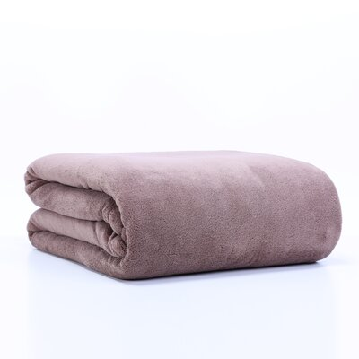Classically Chic Blanket Size: Twin, Color: Mocha Latte