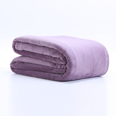 Classically Chic Blanket Size: King, Color: Lavender