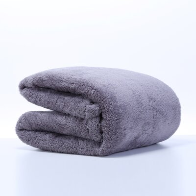 Extra-Fluffy Oversized Throw Color: Smoke