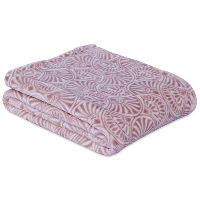 Regal Fan Throw Color: Romantic Rose