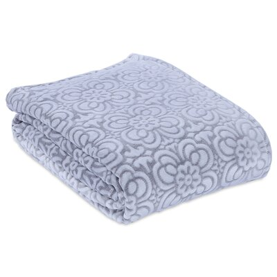 Garden Mosaic Plush Blanket Size: King, Color: Pebble Grey