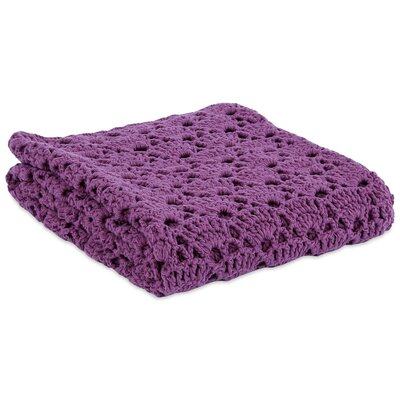 Prairie Handcrafted Crochet Throw Color: Mobile