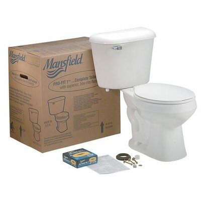 Pro-Fit 3 ADA Complete 1.6 GPF Elongated Two-Piece Toilet Finish: Biscuit