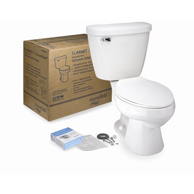 Summit 3 SmartPak Front Complete 1.6 GPF Round Two-Piece Toilet Finish: Bone