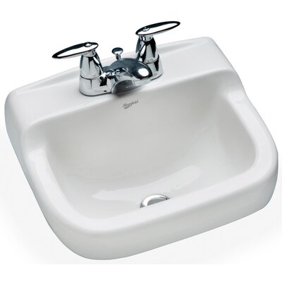 Spruce Cove 16 Wall mount Bathroom Sink with Overflow
