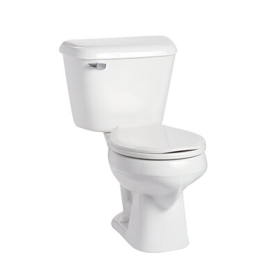 Alto 1.6 GPF Round Two-Piece Toilet Lever Location: Left-Hand