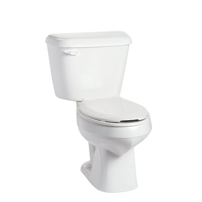 Alto 1.28 GPF Elongated Two-Piece Toilet Lever Location: Left-Hand