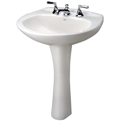 Alto IV Vitreous China 35 Pedestal Bathroom Sink with Overflow