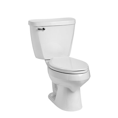 Summit 1.28 GPF Elongated Two-Piece Toilet Lever Location: Left-Hand