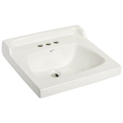 City I Vitreous China Rectangular Drop-In Bathroom Sink with Faucet and Overflow