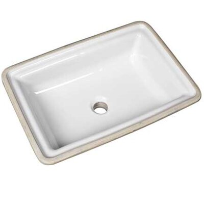Brentwood Vitreous China Rectangular Undermount Bathroom Sink with Overflow