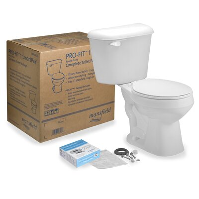 Pro-Fit 1 1.28 GPF Round Two-Piece Toilet