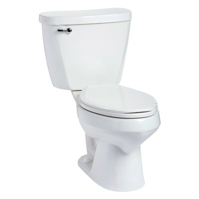 Summit 1.6 GPF Elongated Two-Piece Toilet Lever Location: Left-Hand