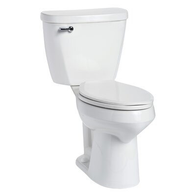 Summit SmartHeight 1.6 GPF Elongated Two-Piece Toilet Lever Location: Left-Hand