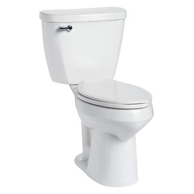 Summit SmartHeight 1.28 GPF Elongated Two-Piece Toilet Lever Location: Left-Hand