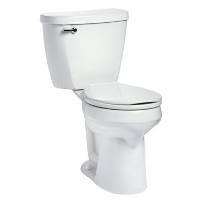 Summit SmartHeight 1.6 GPF Round Two-Piece Toilet Lever Location: Left-Hand