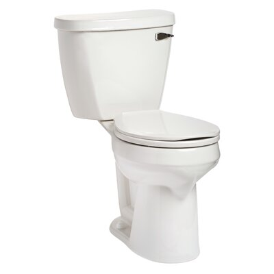 Summit SmartHeight 1.6 GPF Round Two-Piece Toilet Lever Location: Right-Hand