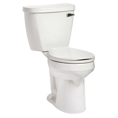 Summit SmartHeight 1.28 GPF Round Two-Piece Toilet Lever Location: Right-Hand