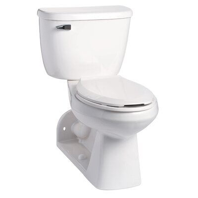 Quantum SmartHeight Pressure-Assist 1.28 GPF Elongated Two-Piece Toilet Color: White