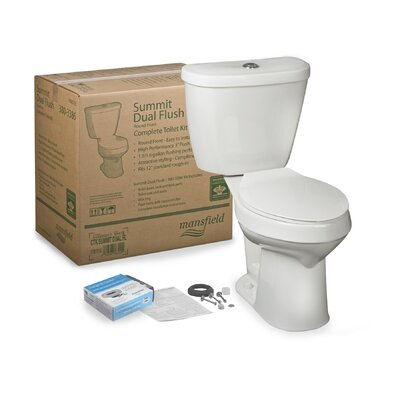Summit CTK Dual Flush Round Two-Piece Toilet