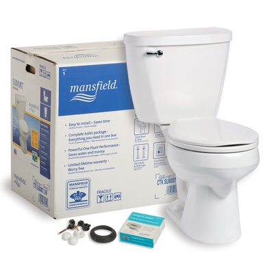 Summit CTK 1.6 GPF Round Two-Piece Toilet
