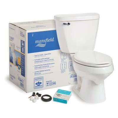 Summit CTK 1.6 GPF Elongated Two-Piece Toilet