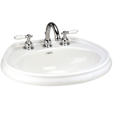 Waverly Vitreous China Circular Drop-In Bathroom Sink with Overflow