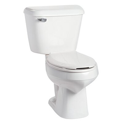 Alto 1.6 GPF Elongated Two-Piece Toilet Lever Location: Left-Hand