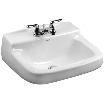 Walnut Knoll Vitreous China 21 Wall Mount Bathroom Sink with Overflow