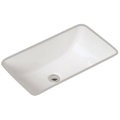 Petite Covington Vitreous China Rectangular Undermount Bathroom Sink with Overflow