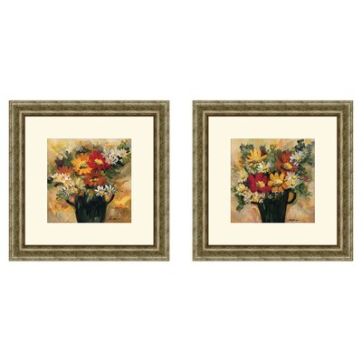 'Daisy Dynamic' 2 Piece Framed Painting Print Set