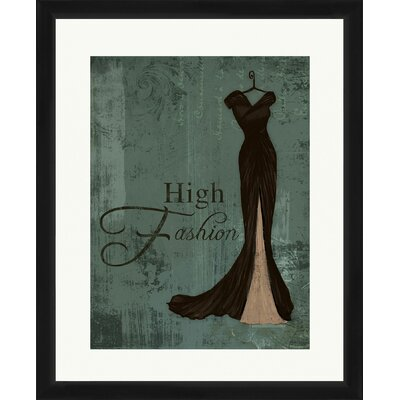 High Fashion Framed Graphic art 1-17009A