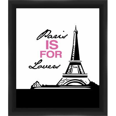 Paris Is for Lovers Gicl�e Framed Graphic Art in Pink 1-19950C