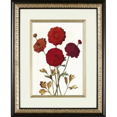 Deep Red Framed Graphic Art 1-9207B