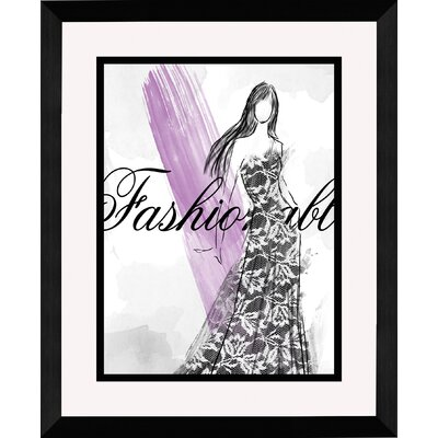 Fashionable Framed Graphic Art 1-13543