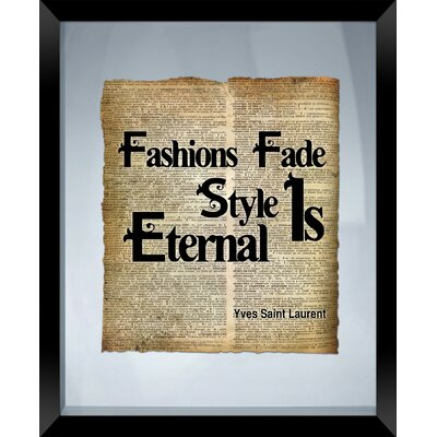 Fashion Fades Framed Textual Art 1-13877