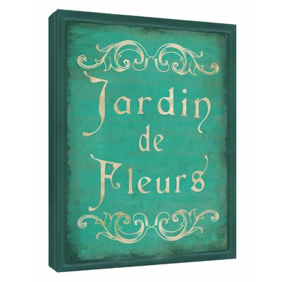 Jardin de Fleurs Sign Framed Textual Art Shadow Box 6-2021