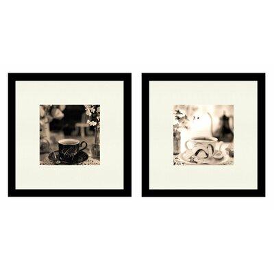 Café 2 Piece Giclée Framed Photographic Print Set