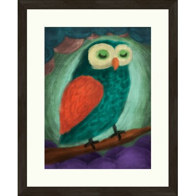 Sleeping Owl Framed Painting Print 2-11420