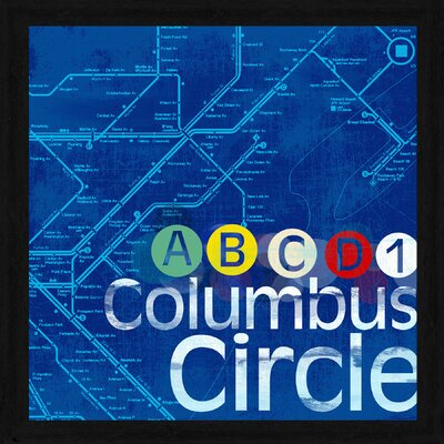Columbus Circle Framed Textual Art 2-9551