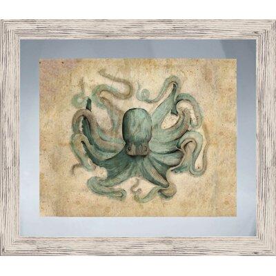Coastal Octopus Framed Graphic Art
