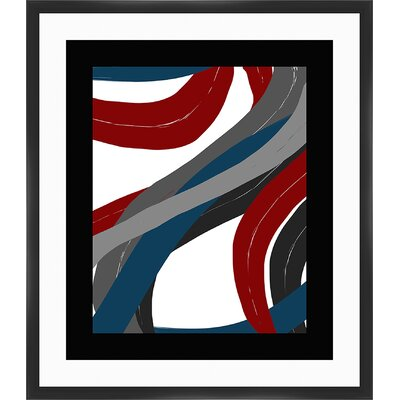 Deep Colour Lines II Framed Painting Print 2-14186B