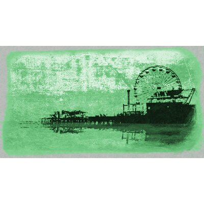 Pier Painting Print on Wrapped Canvas in Green 9-2309a